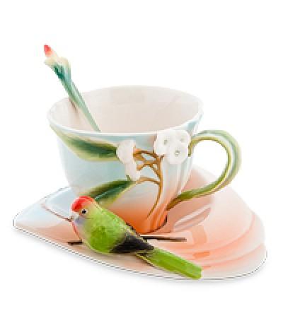 """Чайная пара """"Попугай Розелла"""""""