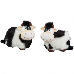 """Сувенир """"Плюшевая корова"""" с черными пятнышками  9х6х8,5 см"""