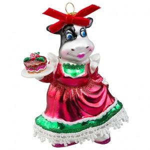 "Корова ""Хозяюшка"" (стекло) 8х5,5х12,5 см"